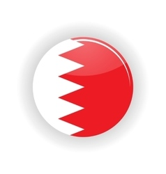 Bahrain icon circle vector image