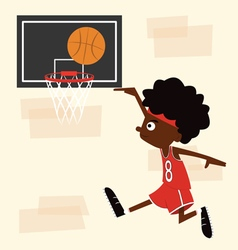 Boy playing basketball vector