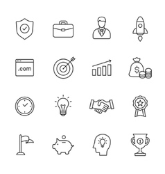 Business Line Icons vector image