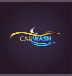 Car wash service logo design vector