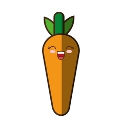 Carrot fresh vegetable kawaii style isolated icon vector