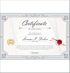 Certificate or diploma retro vintage design vector
