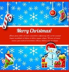 christmas greetings typography design postcard vector image
