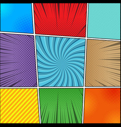 Comic book backgrounds collection vector