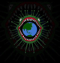 Coronavirus invasion earth vector