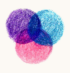 crayon scribble texture stain round shape isolated vector image