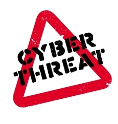Cyber Threat rubber stamp vector image