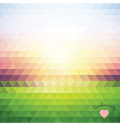 dawn of triangles vector image