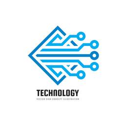 Digital technology - business logo template vector