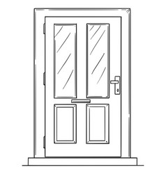 drawing door or family house entrance vector image
