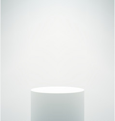 Empty white podium vector