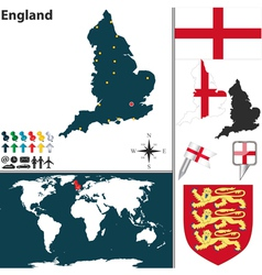 England map world vector image