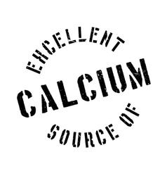 Excellent source of calcium stamp vector