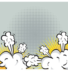 Explosion or fight in comics vector