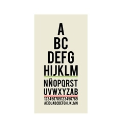 Eye test optical paper vector