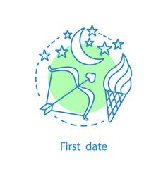 first date concept icon vector image