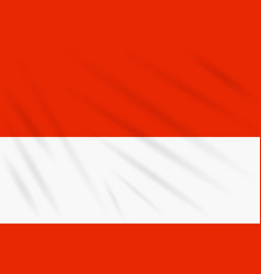 Flag indonesia swaying in wind realistic vector