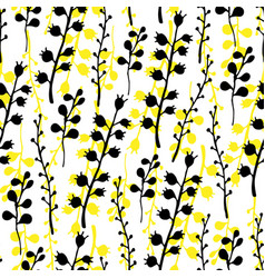 floral seamless pattern nature bright vector image