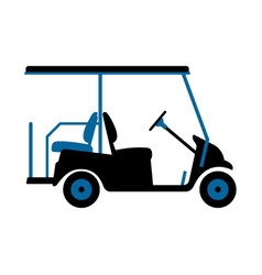 Golf cart or car vector