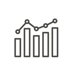 Graphic icon outline rising line business vector