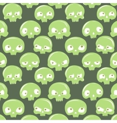 green skulls pattern vector image
