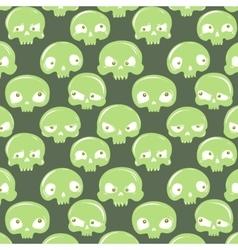 Green skulls pattern vector