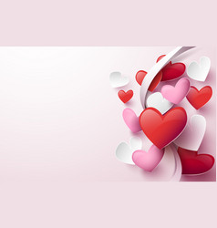 Happy valentines day abstract hearts background vector
