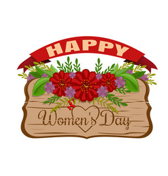 happy womens day womens holiday card march 8 vector image