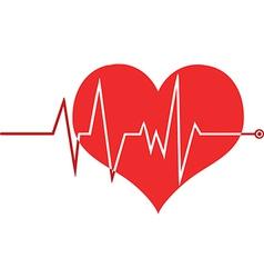 Heart beat monitor vector