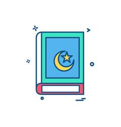 holy quran icon design vector image
