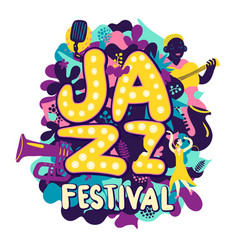 Jazz festival composition vector