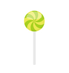 lollipop candy with green curved rays pattern vector image