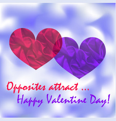 love s concept meaning opposites atract vector image