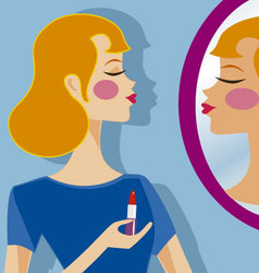 makeup 2 vector image