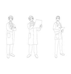 Medical Staff Man Full Body vector
