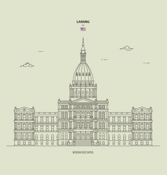 Michigan state capitol in lansing usa vector