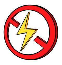 no lightning icon cartoon vector image