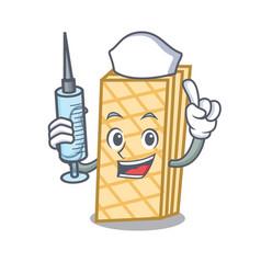 Nurse waffle character cartoon style vector