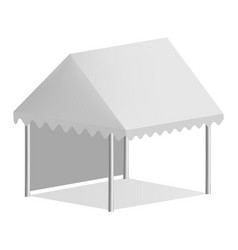 One side tent mockup realistic style vector