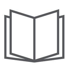 Open book line icon school and education vector