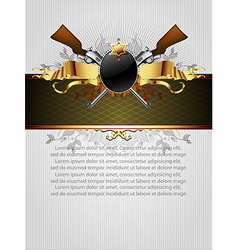Ornate frame with arms vector