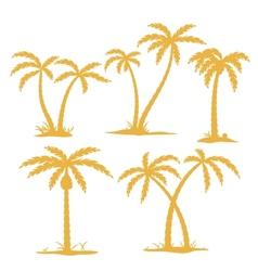Palm contours vector