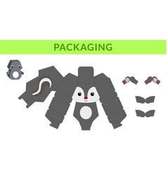 Party favor die cut skunk box for birthdays baby vector