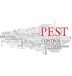Pest word cloud concept vector