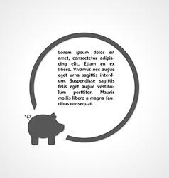 Pig symbol and circle vector