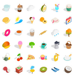Plastic cup icons set isometric style vector