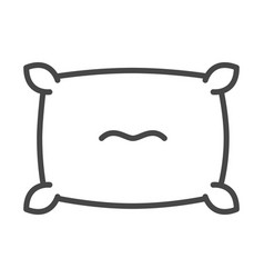 Plump pillow comfort soft linear icon style vector