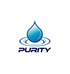 Purity drop logo design symbol vector