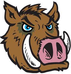 razorback head logo mascot vector image