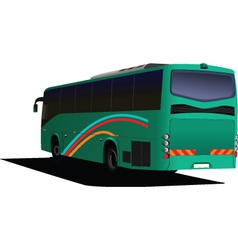 Rear view of bus vector image